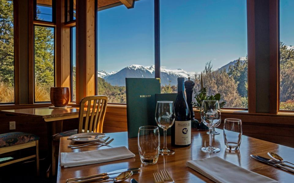 Mountain views from the Mt Rolleston Restaurant