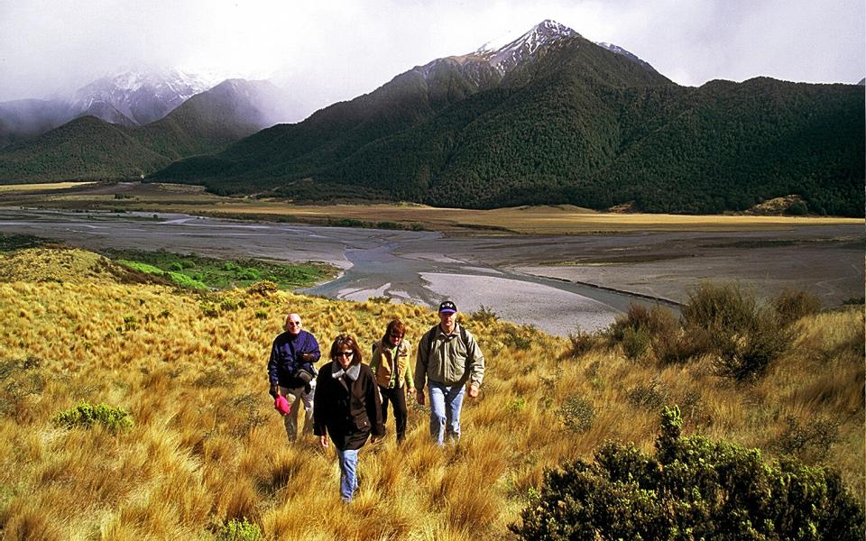 Hike the spectacular 6000 acre Wilderness Lodge sheep farm in New Zealand