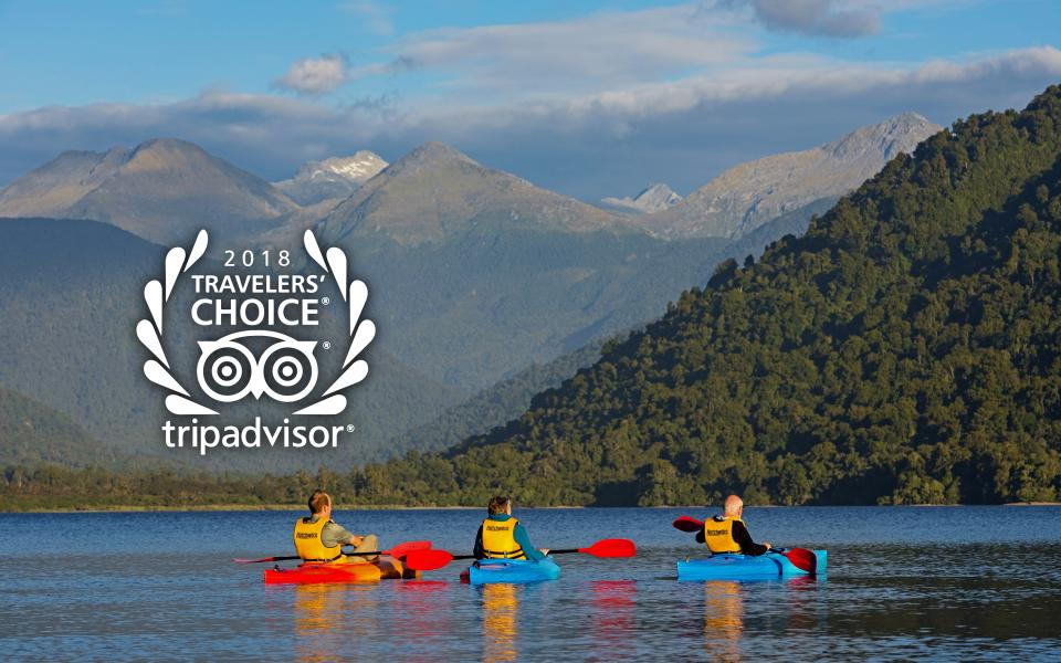 WIlderness Lodge Lake Moeraki received this prestigious award