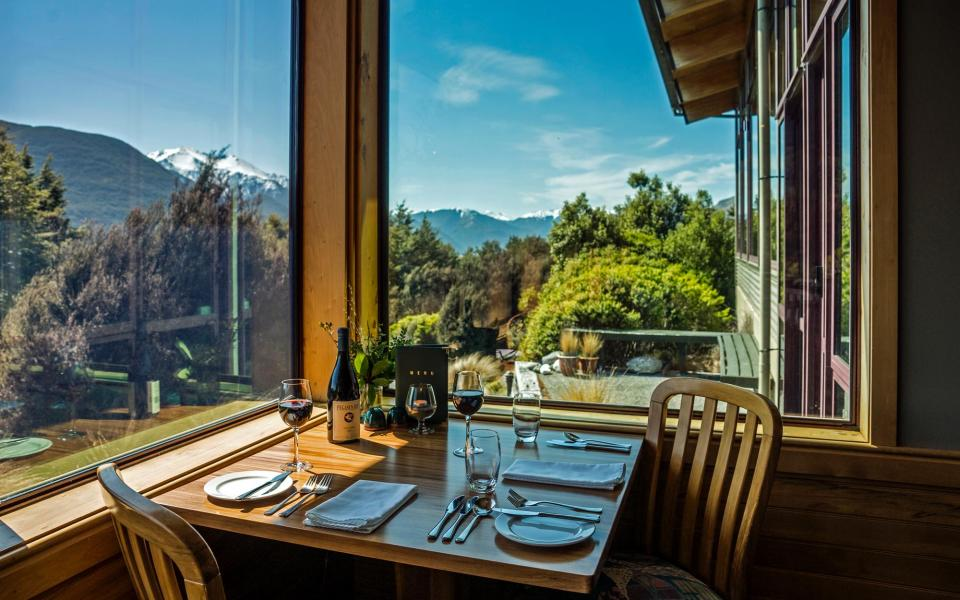 Indulge in fine dining at the Mount Rolleston Restaurant, on the West Coast of NZ's South Island